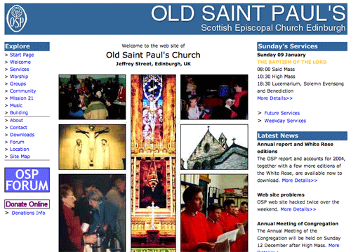 OSP website from 2005